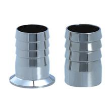Connecteur de tuyau flexible soudé en acier inoxydable poli