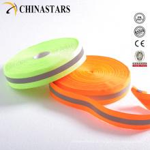 100% Polyester hohe Sichtbarkeit Reflektierendes Gurtband