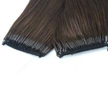 2020 Popular Korean/Japan Popular 18inch Brown Color Knot Thread Hair Extension Human Hair Virgin Hair