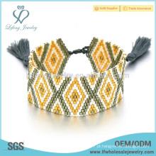 Diy jóias de estilo boêmio, semente pulseira padrão de contas