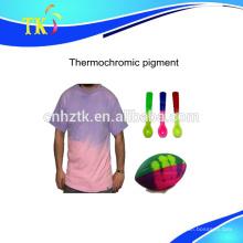 Pigmento termocrômico em pó para usado para roupas, colheres, pigmento de mudança de cor de rugby com a temperatura