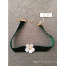 Moda colar gargantilha de flor