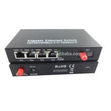 10/100 / 1000M Gigabit оптический медиаконвертер с 4 портами RJ45 1 FC-порт