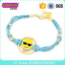 Venta al por mayor Emoji Rope Bracelet for Girls