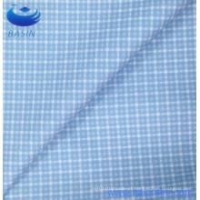 Impressão de azul-céu verifica tecido de poliéster guingão (BS8131-1)