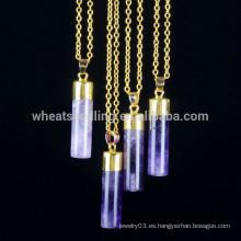 5 colgantes collar de la barra de los colores, collar de piedra natural del collar de la cadena del oro