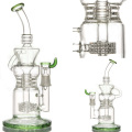 Recycler Glass Water Pipe for Smoke with Barrel Perc (ES-GB-054)
