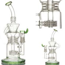 Tubo de água do vidro do reciclador para o fumo com barril Perc (ES-GB-054)