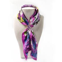 Custom Double Sided Digital Printing Silk Scarf