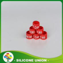 Trade Price Red Silicone Finger Wedding Ring