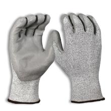 Paume enduite de polyuréthane enduit sans couture de tricot 5 de niveau