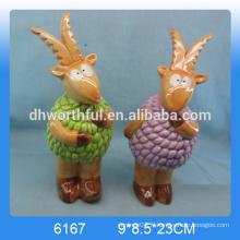 Figurine de chèvre en céramique Hotsale, décoration de chèvre en céramique, statue de chèvre en céramique, artisanat en chèvre en céramique