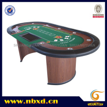 10 Person Luxury Poker Table with Wooden Leg (SY-T04)