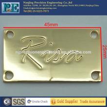 Placa de logotipo de chaparia de ouro de alta precisão