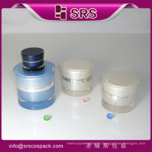 Plastic Container And round Plastic Containers And Skin Care Clear Round Shape Acylic Sample Cosmetic Jars