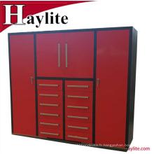 Système d'armoire porte-outils mobile en métal avec portes