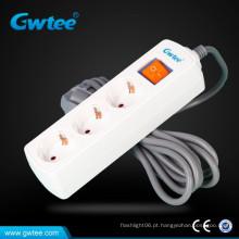 13A plug eu soquete de extensão elétrica com ficha europeia