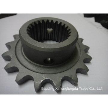 Piñón de cadena de hierro fundido con mecanizado CNC