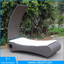 New Design Modern Rattan Outdoor Bali Beach Sunbed