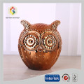 Copper Owl Shape Glass Candle Jar