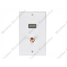 Us Decora Style HDMI/RCA Wall Plate 115*70mm
