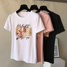 4 IN 1 Fashion Embroidery Flower T-shirt