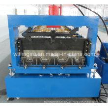 Plataforma automática de alta velocidade do assoalho da folha de metal que faz a máquina