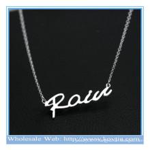 Trendy 925 lettres personnalisées en argent personnalisé chaîne fine collier pendentif sexy
