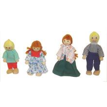 Mini brinquedo de madeira bonecas para crianças