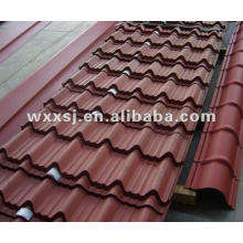 Hoja de color galvanizado acero corrugado teja
