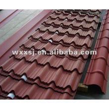 Chapa de aço galvanizado ondulada telha telhadura de cor