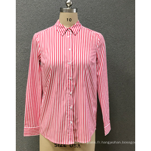chemise rayée rouge femme