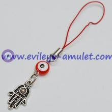 Evil Eye Hamsa Kabbalah Cell Phone Charm for Protection