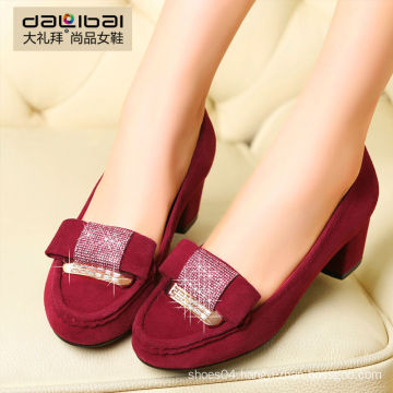 Red and black lady's high heels women casual shoes