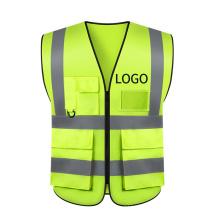 Fast Customization Multi Pockets Reflective Safety Clothing Hi Vis Safety Vest