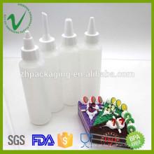 Garrafa de cola de plástico vazio de 130 ml de HDPE com tampa de rosca
