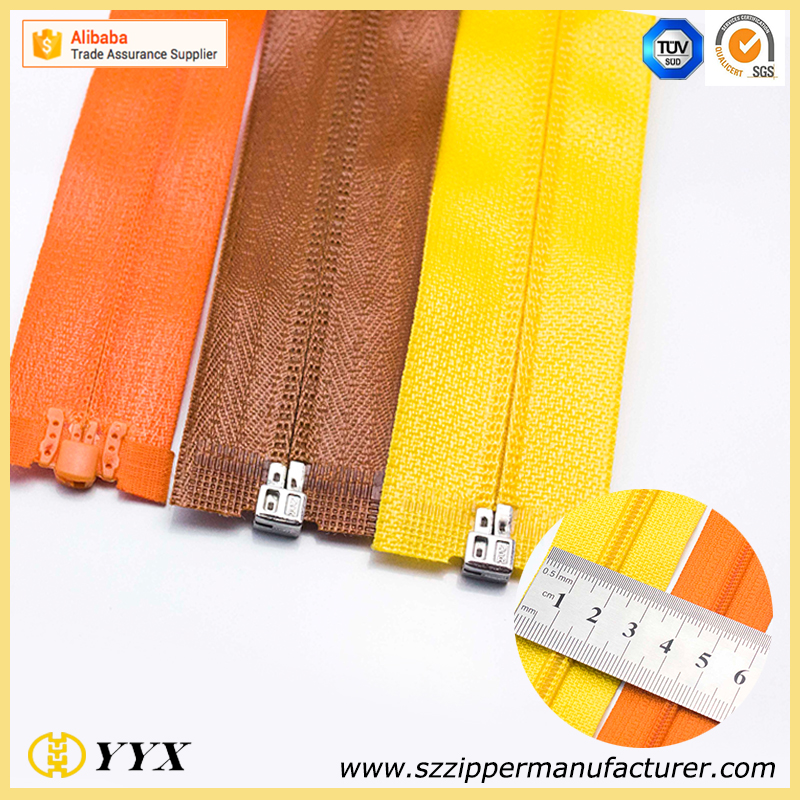 Open End Shiny Waterproof Coil Zipper