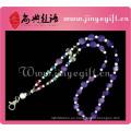 Correa de cordón con cuentas de Shell púrpura cristalina hecha a mano única