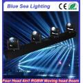 4pcs x 10W RGBW 4in1 narrow beam led spot lights