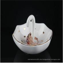 Neue Produkte Keramische Ringhalter Exquisite Umbrella Shaped