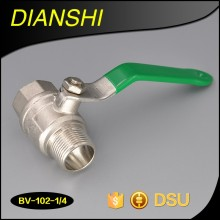 Hand lever flow restricting brass ball valve/Pneumatic ball valve