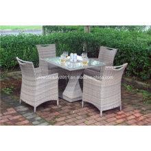 Mesa de comedor y silla de comedor de mimbre de jardín de mimbre al aire libre nuevo