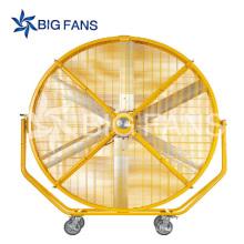 Tamaño grande móvil ventilador Industrial alta calidad bajo consumo DC portátil soporte ventilador precios