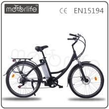MOTORLIFE/OEM номер одобренный en15194 36В 2014 26 дюймов 250вт зеленой силы электрический велосипед