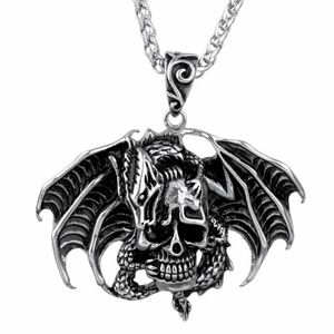 Skull Death Head Bat Wing heren hanger