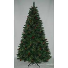 Arbol de Navidad artificial realista con la luz de la secuencia Color multi de la decoración del LED Berry (AT2115)
