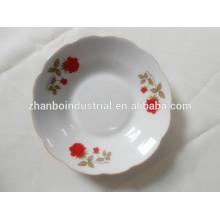 Plato de sopa de cerámica, plato de sopa de porcelana con patrón de flores