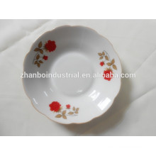 Ceramic soup plate,porcelain soup plate with flower pattern