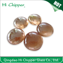 Light Amber Glass Gemstone Fire Pit