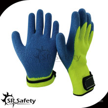 7G Acrylic Nappy Knitted Latex Palm Coated Crinkle Finished Gloves/ Knitted Latex Coating Glove/Working Glove